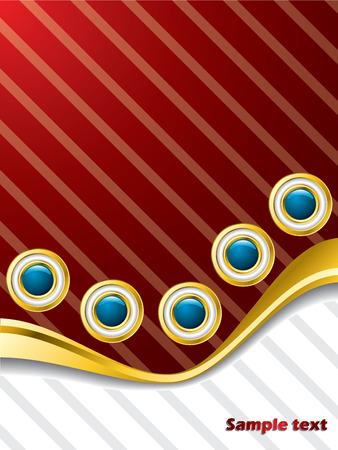 Wavy buttons brochure design Stock Vector - 8002277