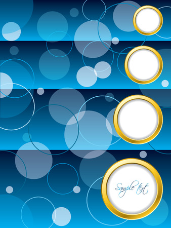Dotted blue brochure design Vector
