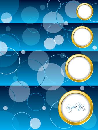 Dotted blue brochure design Vector