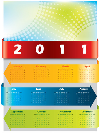 Arrow calendar for 2011 Stock Vector - 8031413