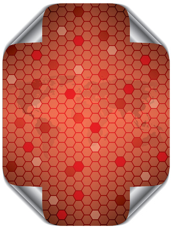 Hex world in red Stock Vector - 8090762