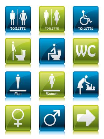 latrina: Segni di toilette  Vettoriali