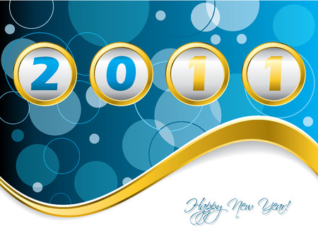 Dotted blue year counter Stock Vector - 8127751