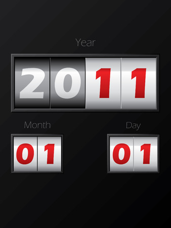 2011 date counter Stock Vector - 8127740