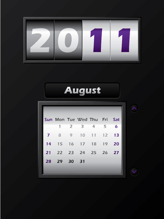 2011 august month counter calendar  Stock Vector - 8127746