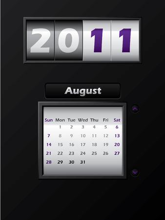 2011 august month counter calendar Stock Vector - 8127746