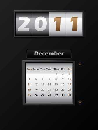 2011 december month counter calendar  Stock Vector - 8127750