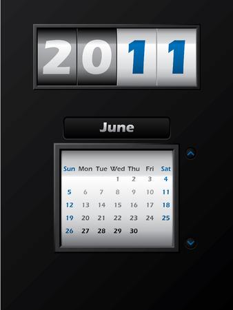 2011 june month counter calendar Stock Vector - 8127741