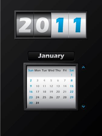 2011 january month counter calendar Stock Vector - 8127742