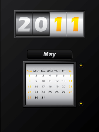2011 may month counter calendar Stock Vector - 8127744