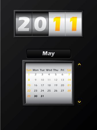 2011 may month counter calendar Stock Vector - 8127744