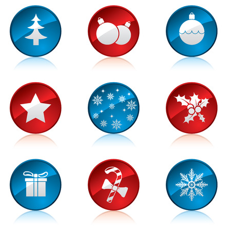 winter solstice: Christmas icon set