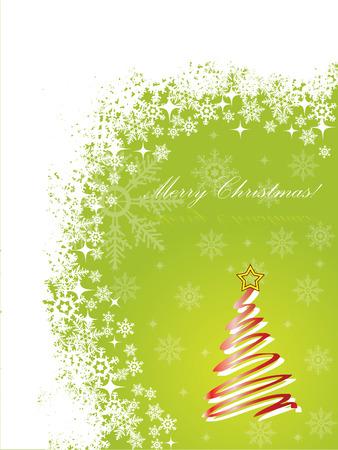 Green christmas greeting  Stock Vector - 8127788
