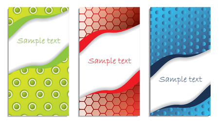 Textured business card set Stock Vector - 8219223