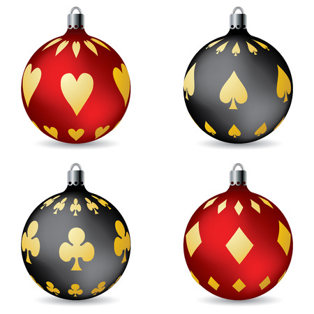 poker game: Poker christmas decorations
