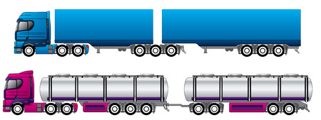 B double road trains  Stock Vector - 8219227