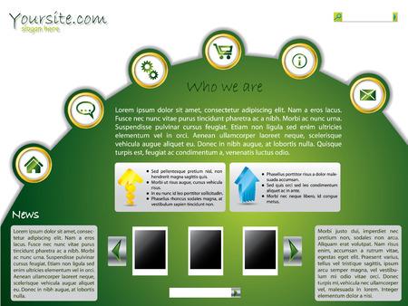 Green web template design Vector