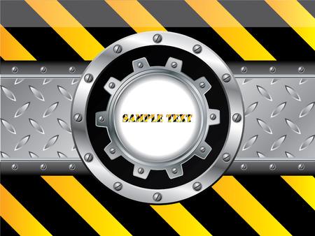 Striped metallic design background  Stock Vector - 8219238