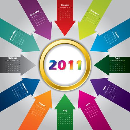 2011 arrow calendar design Stock Vector - 8250727