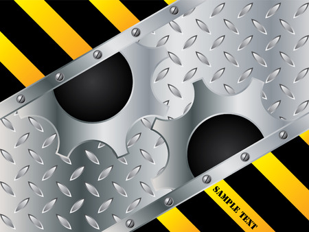 Metallic cogwheel design Vector
