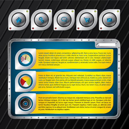 Metallic website template design Stock Vector - 8304775
