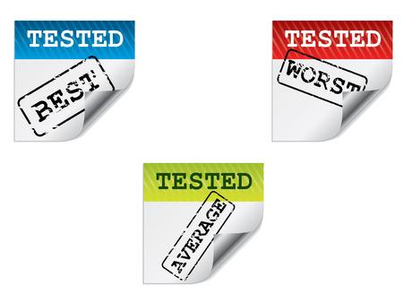 Test label set Stock Vector - 8313387