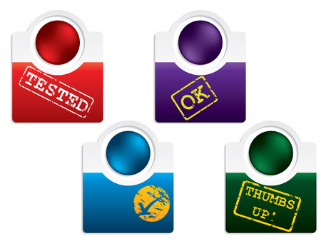 Test label set Stock Vector - 8351887