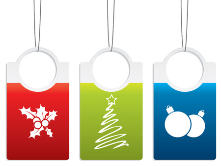 Christmas label designs Vector