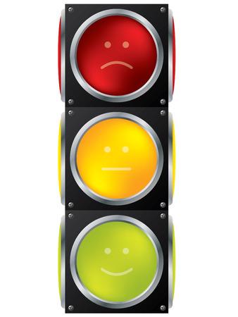 traffic control: Dise�o de sem�foro de Smiley Vectores