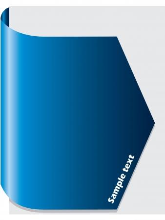 Blue brochure design Stock Vector - 8351898