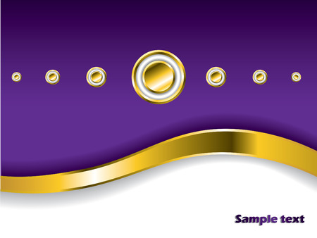 Stylish background with golden wave and buttons Vector