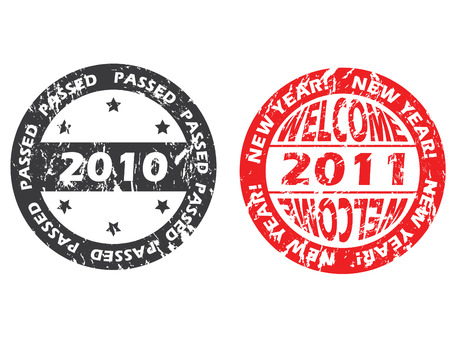 Old and new year seals Stock Vector - 8351906