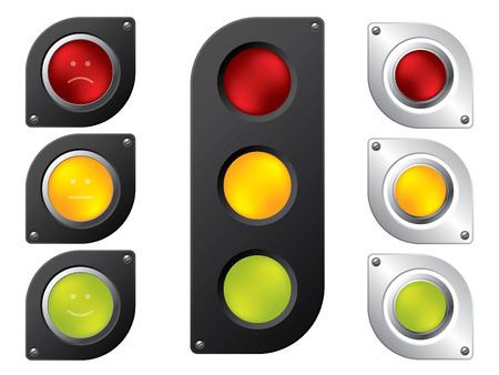 light signal: Various traffic light designs
