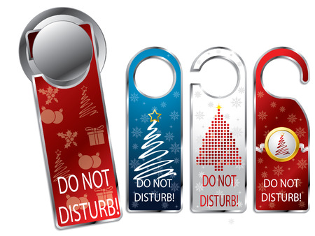 Christmas design privacy labels Vector