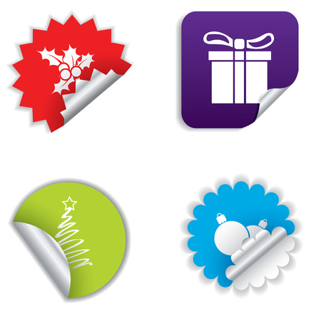Christmas stickers Stock Vector - 8433236