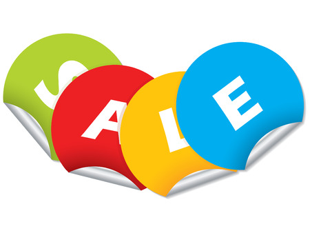 Sale sticker design Stock Vector - 8433238