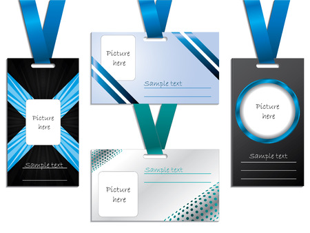 Name tag designs Stock Vector - 8433251