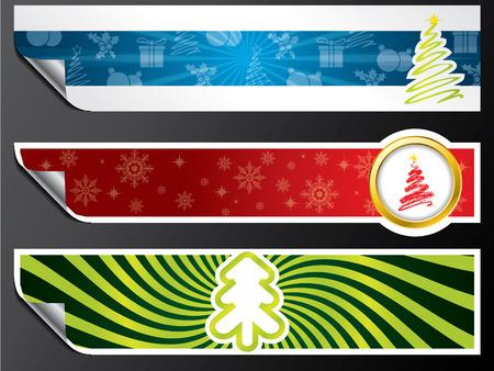 Various christmas banner set Vector