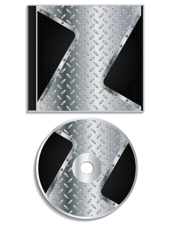 cd label: Metallic disc and cover design
