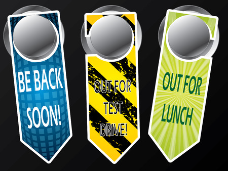 Door hanger messages Vector