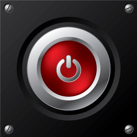 shiny button: Cool power button design Illustration