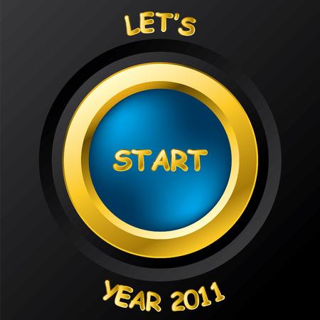 2011 start button Vector