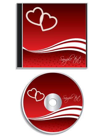 estuche: Diseño de portada de cd de día de San Valentín