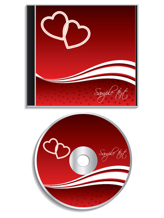 design media love: Valentine day cd cover design Illustration