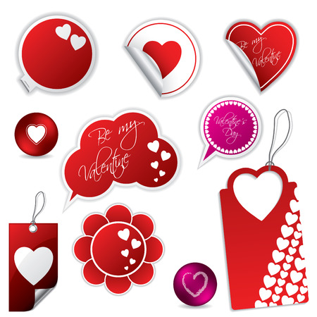 Valentines day stickers and labels Vector