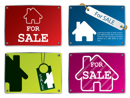 House for sale tablets Vector