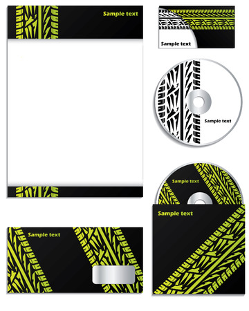 tire cover: Company   design with tire tracks