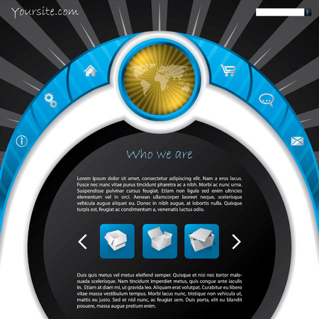 Cool new concept website template design Vector