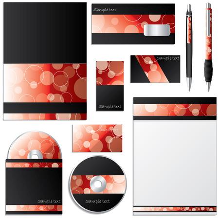 Dotted business design set Vector