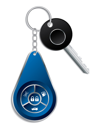 Car key with wireless remote Vector